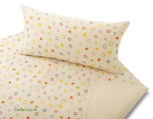 dasbett24 kinderbettw sche mit farbigen kritzelkreisen. Black Bedroom Furniture Sets. Home Design Ideas