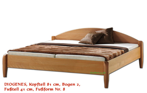 dasbett24 bettgestell massivholzbett diogenes in eiche oder wildeiche. Black Bedroom Furniture Sets. Home Design Ideas