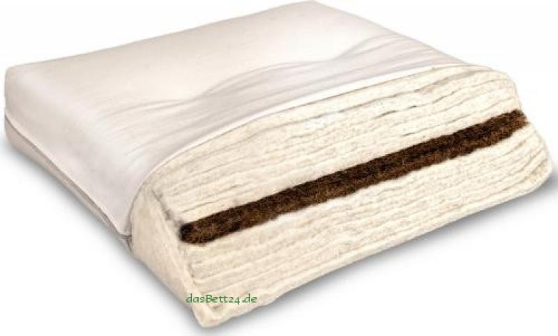 dasbett24 futon mit baumwolle leinen und kokos. Black Bedroom Furniture Sets. Home Design Ideas